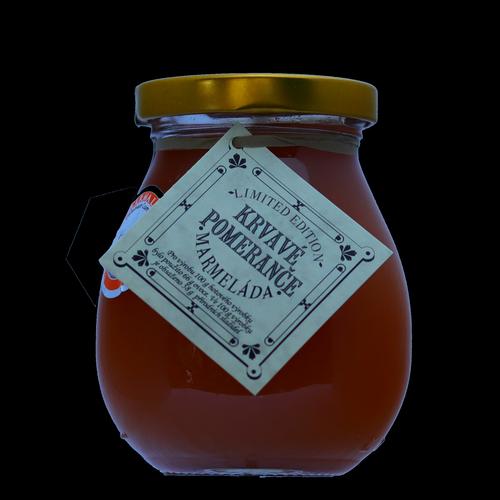 Krvavý pomeranč marmeláda